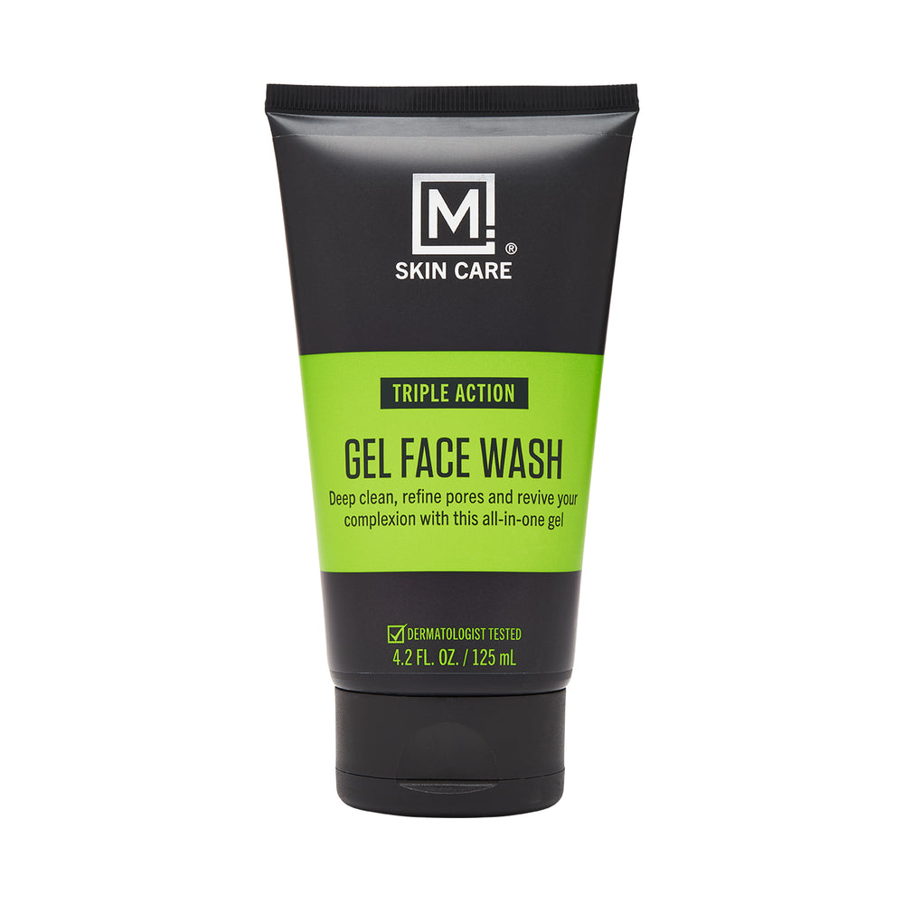 m skin care gel face wash