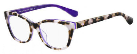 Kate Spade - Carolan 52mm Havana Plum Eyeglasses / Demo Lenses