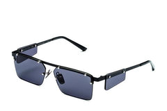 Italia Independent - Gilles Black Sunglasses / Full Grey Lenses