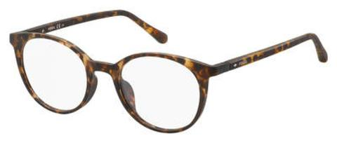 Fossil - Fos 7043 Brown Havana Eyeglasses / Demo Lenses