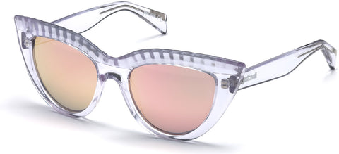Just Cavalli - JC746S White Crystal Sunglasses / Gradient Lenses
