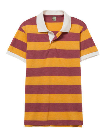 Alternative Apparel - Ugly Striped Eco True Burgundy Polo Shirt