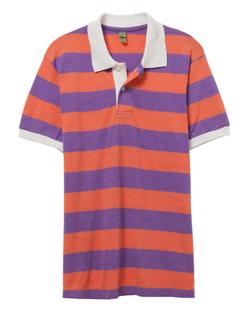 Alternative Apparel - Ugly Striped Eco True Orange Polo Shirt