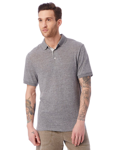 Alternative Apparel - Classic Eco-Jersey Eco Grey Eco Light Grey Polo Shirt