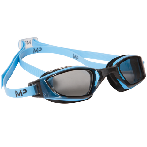 MP Michael Phelps XCEED Smoke Lens Blue / Black Swim Goggles