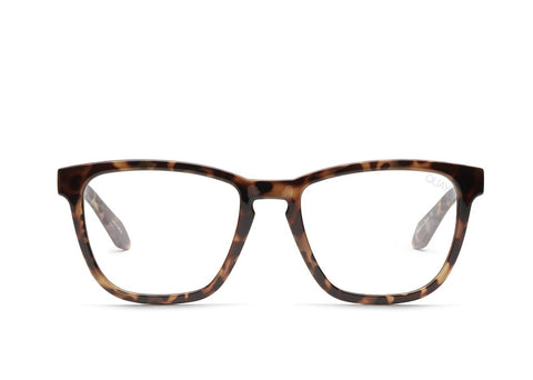 Quay Hardwire Tortoise Eyeglasses / Clear Blue Light Lenses