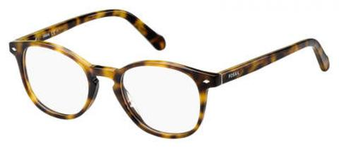 Fossil - Fos 6043 Dark Havana Eyeglasses / Demo Lenses