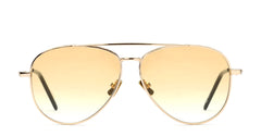 Italia Independent - Forrest Glossy Gold Sunglasses / Shaded Cosmetic Brown Lenses