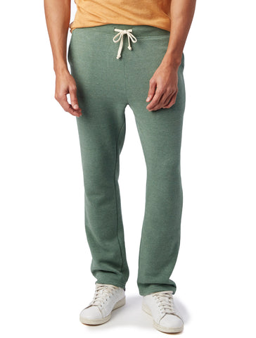 Alternative Apparel - Hustle Eco-Fleece Open Bottom Eco True Dusty Pine Sweatpants
