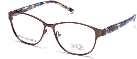 Catherine Deneuve - CD0419 Matte Light Brown Eyeglasses / Demo Lenses
