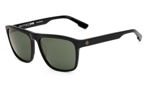Spy - Neptune Black Sunglasses, Happy Grey Green Lenses
