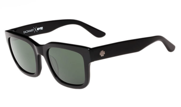 Spy - Trancas Black Sunglasses, Happy Grey Green Lenses