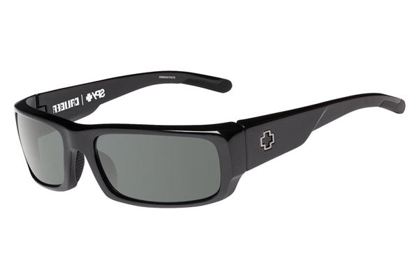 Spy - Caliber Black Sunglasses, Happy Grey Green Lenses