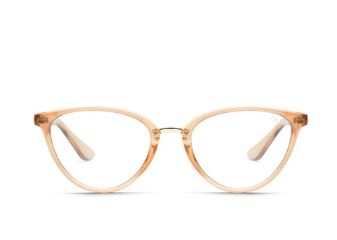 Quay Rumours Champagne Eyeglasses / Clear Blue Light Lenses