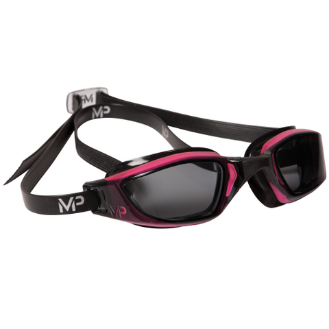 MP Michael Phelps - XCEED Black Pink Swim Goggles / Smoke Lenses