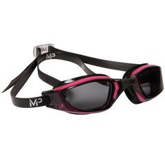 MP Michael Phelps - XCEED Smoke Lens Pink / Black Swim Goggles