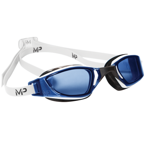 MP Michael Phelps - XCEED White Black Swim Goggles / Clear Blue Lenses