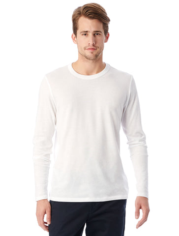 Alternative Apparel - Keeper Vintage Jersey Long Sleeve White T-shirt