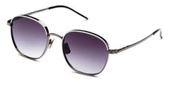 Italia Independent - Joanna White Gunmetal Sunglasses / Shaded Grey Lenses