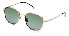 Italia Independent - Joanna Pink Gold Sunglasses / Shaded Green Lenses