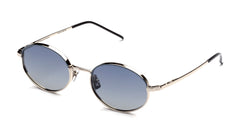 Italia Independent - Francis Mastic Silver Sunglasses / Shaded Blue Lenses