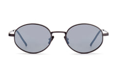 Italia Independent - Francis Gunmetal Sunglasses / Silver Mirror Lenses