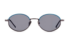 Italia Independent - Francis Gunmetal Sunglasses / Full Grey Lenses