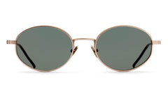 Italia Independent - Francis Pink Gold Sunglasses / Full Green Lenses
