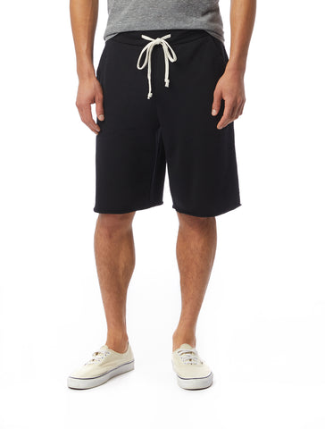 Alternative Apparel - Victory Burnout French Terry True Black Shorts
