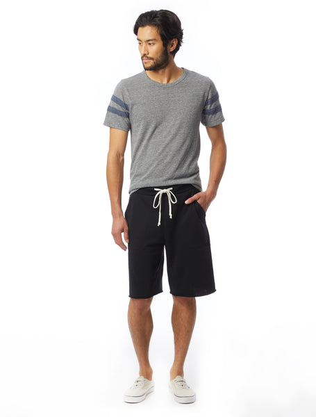 Alternative Apparel Victory Burnout French Terry True Black Shorts