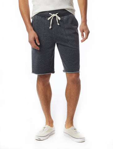 Alternative Apparel - Victory Burnout French Terry Washed Black Shorts