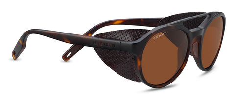 Serengeti - Leandro Glacier Matte Tortoise Sunglasses / Mineral Polarized Drivers Brown Lenses