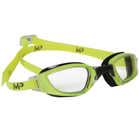 MP Michael Phelps - XCEED Neon Yellow Black Swim Goggles / Clear Lenses