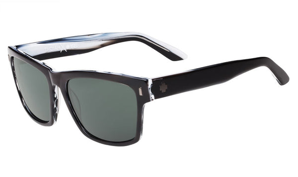 Spy - Haight Black/Horn Sunglasses, Happy Grey Green Lenses
