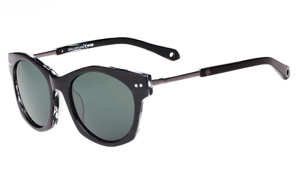 Spy - Mulholland Black/Horn Sunglasses, Happy Grey Green Lenses