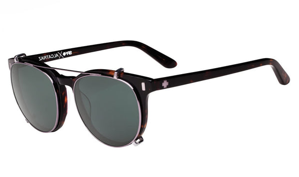 Spy - Alcatraz Dark Tort Sunglasses, Happy Grey Green Polar Lenses