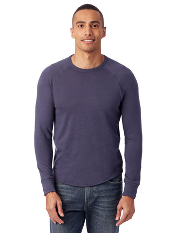 Alternative Apparel - Kickback Vintage Heavy Knit Pullover Dark Navy Sweatshirt