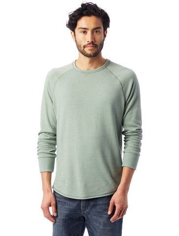 Alternative Apparel - Kickback Vintage Heavy Knit Pullover Vintage Agave Green Sweatshirt