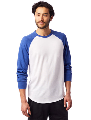 Alternative Apparel - Kickback Vintage Heavy Knit Pullover White Vintage Royal Sweatshirt