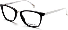 Cover Girl - CG0470 Black + White Eyeglasses / Demo Lenses
