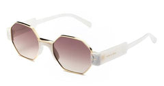 Italia Independent - Raymond Crystal White Sunglasses / Shaded Brown Lenses