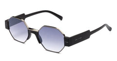 Italia Independent - Raymond Black Sunglasses / Shaded Silver Mirror + Grey Lenses