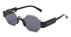 Italia Independent - Raymond Glossy Black Sunglasses / Full Grey Lenses