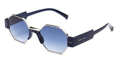 Italia Independent - Raymond Dark Blue + Blue Acetate Sunglasses / Shaded Blue Lenses