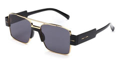 Italia Independent - Sebastian Glossy Black Sunglasses / Full Grey Lenses