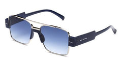 Italia Independent - Sebastian Dark Blue + Blue Acetate Sunglasses / Shaded Blue Lenses