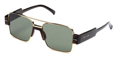 Italia Independent - Sebastian Brown Acetate Sunglasses / Full Green Lenses
