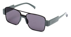 Italia Independent - Sebastian Glossy Grey Sunglasses / Full Grey Lenses