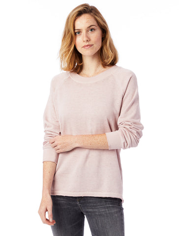 Alternative Apparel - Lazy Day Burnout French Terry Pullover Rose Quartz Sweatshirt