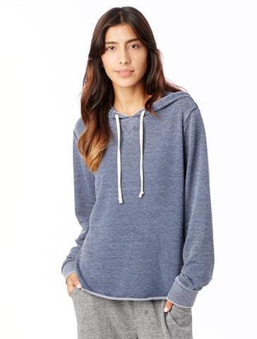 Alternative Apparel - Day Off Burnout French Terry Dark Navy Hoodie